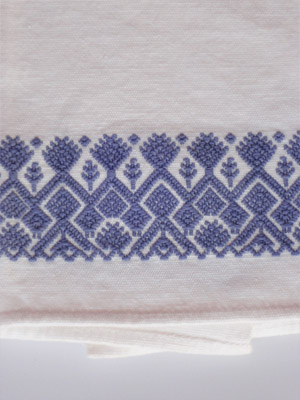 MEXICAN TEXTILES / Blue handwoven hand towel