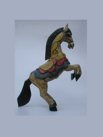 CARVED HORSES / Carved horse 16 inch tall handpainted