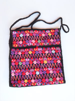 MEXICAN TEXTILES / Chamula handwoven large size handbag