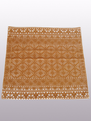 MEXICAN TEXTILES / Handwoven pillow cover - Diamonds in Brown