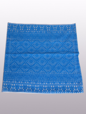 MEXICAN TEXTILES / Handwoven pillow cover - Diamonds in Dark Turquoise