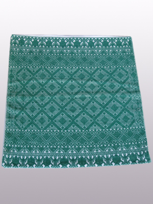 MEXICAN TEXTILES / Handwoven pillow cover - Diamonds in Jade Green