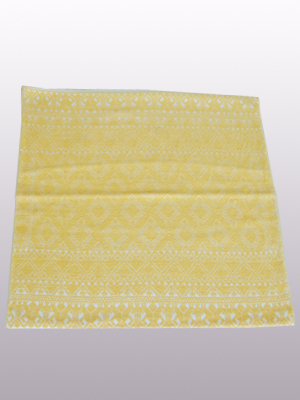 MEXICAN TEXTILES / Handwoven pillow cover - Diamonds in Light Yellow