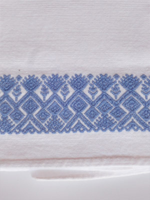 MEXICAN TEXTILES / Light Blue handwoven hand towel