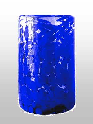 MEXICAN GLASSWARE / Cobalt-Blue-Confetti-drinking-glass