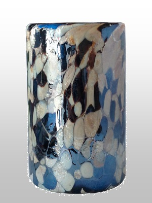 MEXICAN GLASSWARE / Pearly-Blue-Confetti-drinking-glass