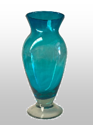 MEXICAN GLASSWARE / Solid-Aqua-Blue-Base