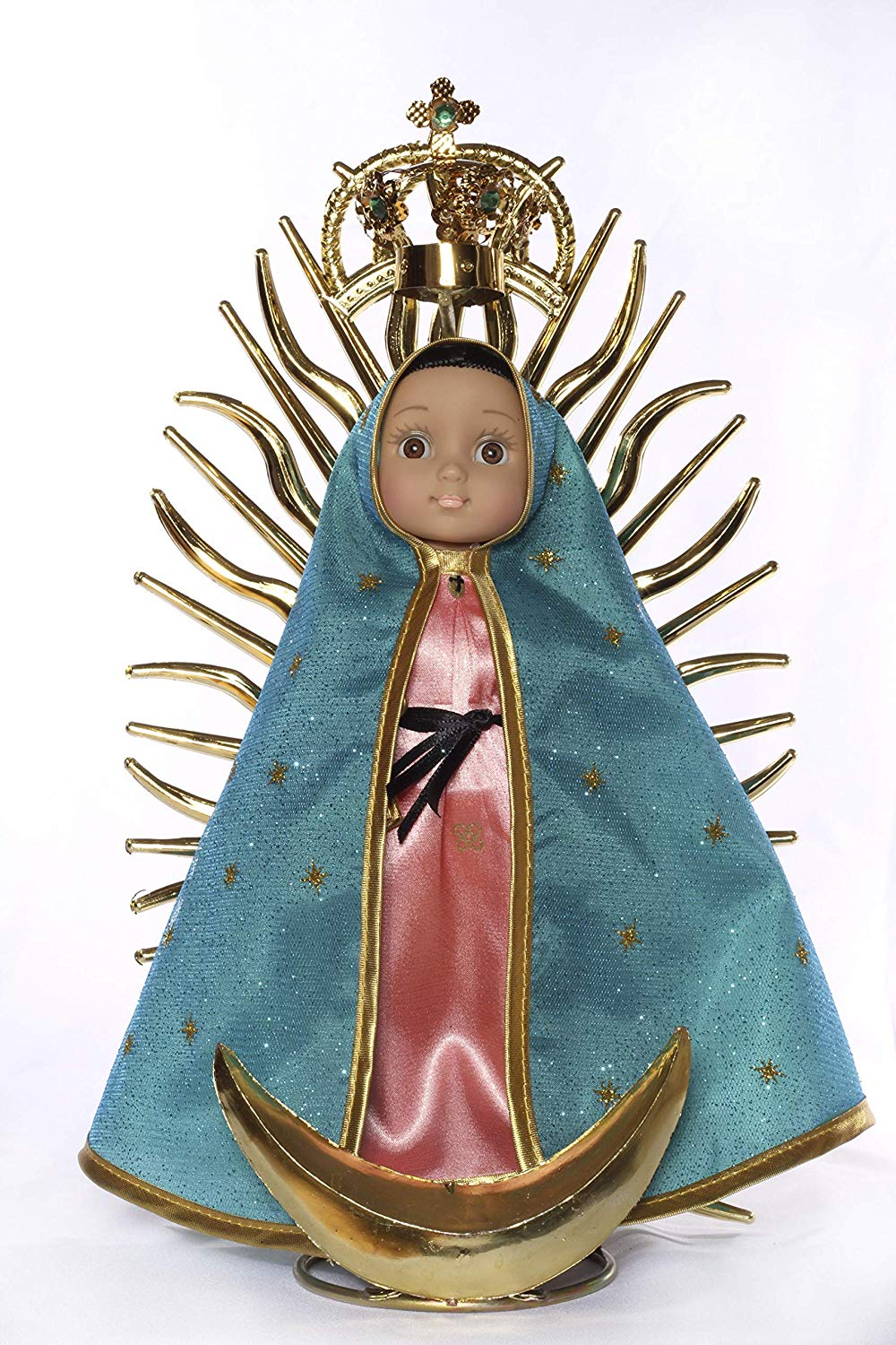 MARIA CONTIGO / Our Lady of Guadalupe 10'' Doll with Rosary 'Special Edition'