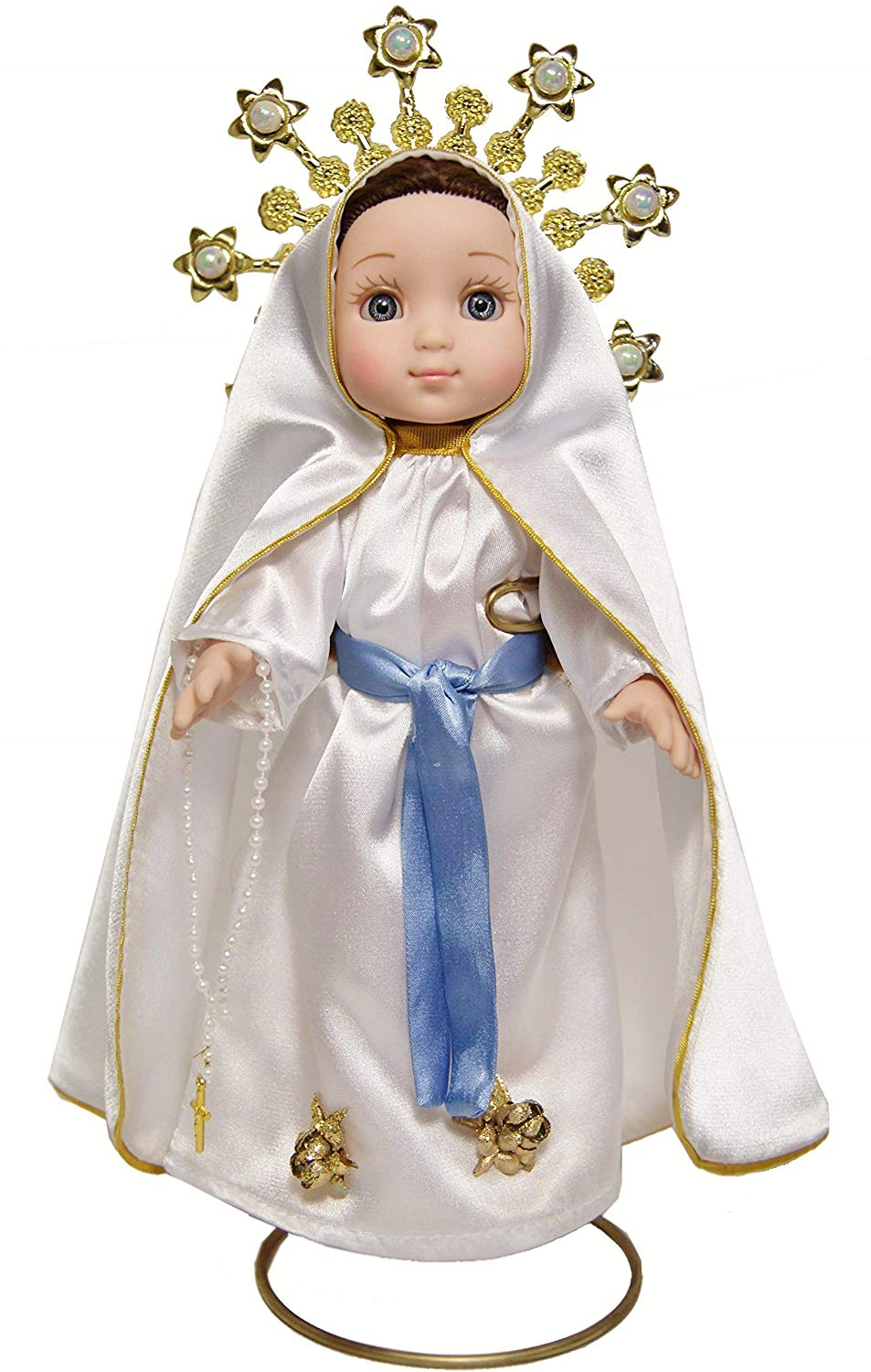MARIA CONTIGO / Our Lady of Lourdes 10'' Doll with Rosary