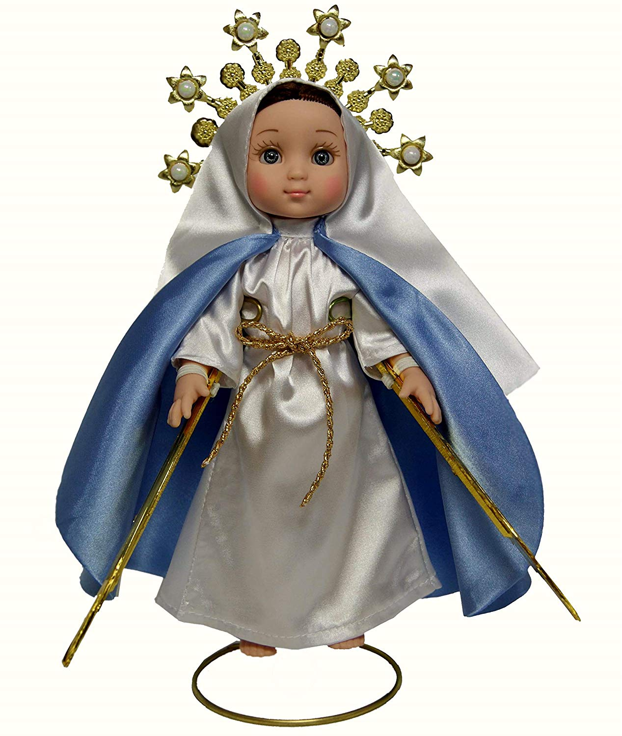 MARIA CONTIGO / Our Lady of The Miraculous Medal 1'' Doll with Rosary